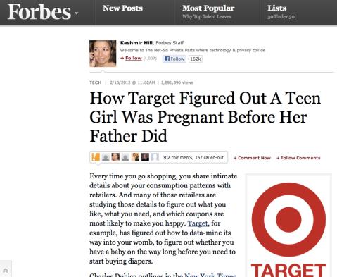 Target's 'Pregnancy test'